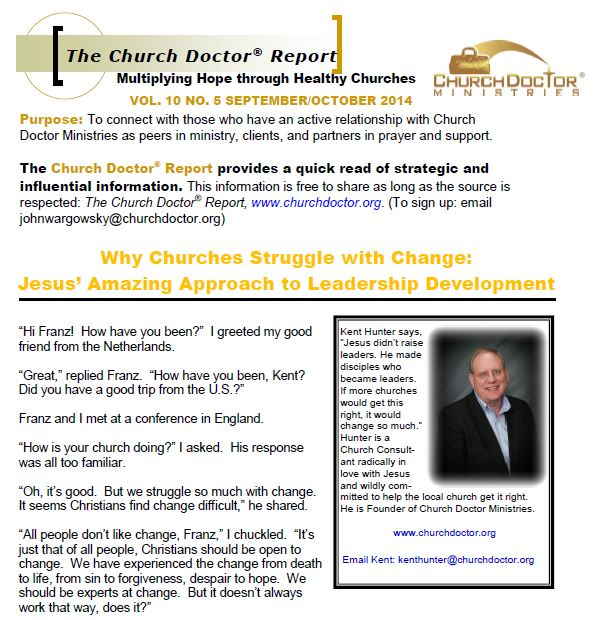 Why Churches Struggle with Change – September/October 2014 Church Doctor Report