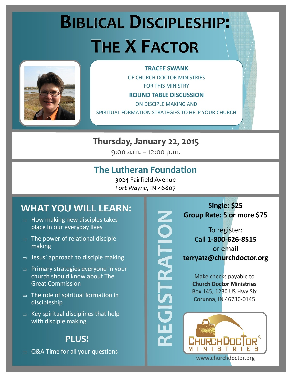 Biblical Discipleship: The X Factor – January 22 in Fort Wayne, IN