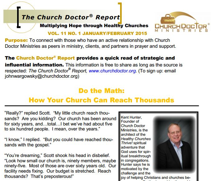 How Your Church Can Reach Thousands – January/February 2015 Church Doctor Report