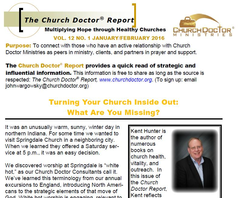 Turning Your Church Inside Out — January/February 2016 Church Doctor Report