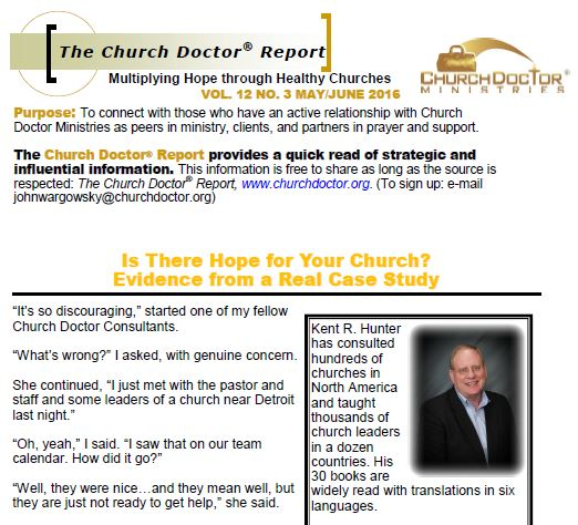 Is There Hope For Your Church? Evidence from a Real Case Study – May/June 2016 Church Doctor Report
