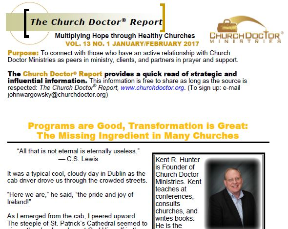 The Missing Ingredient in Many Churches – January/February 2017 Church Doctor Report