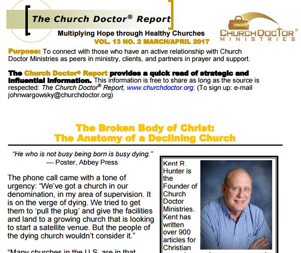 The Broken Body of Christ: The Anatomy of a Declining Church — March/April 2017 Church Doctor Report