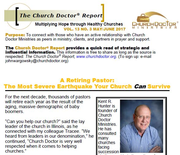 A Retiring Pastor – May/June 2017 Church Doctor Report
