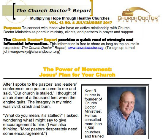 The Power of Movement – July/August 2017 Church Doctor Report