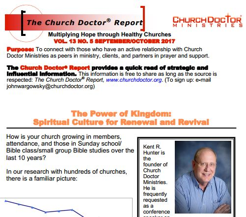 The Power of Kingdom – September/October 2017 Church Doctor Report